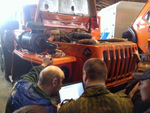 URAL truck with YAMZ-238 diesel engine and Eurosens Direct PN