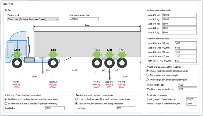 Onboard weighing system - calibration